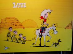 (Lucky) Luke canvas painting