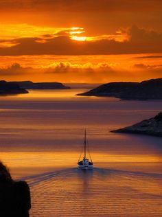 zonsondergang in Norwegen: