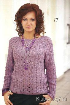 Вязание на спицах кофты женские спицами