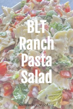 Perfect salad for all occasions! Ranch Dressing Ingredients, Ranch Pasta, Ranch Dressing Mix, The Ranch, Pasta Salad, Dressings, Potato Salad, Side Dishes, Salads