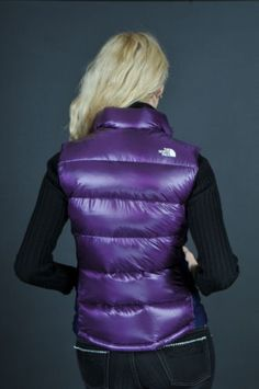 "Purple The North Face ""Crimptastic"" down vest Cool Jackets, Winter Jackets, Purple Vests, Puffy Vest, Teen Fashion, Womens Fashion, Body Warmer, Down Vest, Outerwear Women"