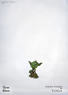 Yoda Jimmeny Cricket Disney and Star Wars mashup!