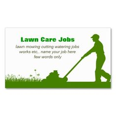 Lawn care grass cutting business card | Lawn care, Business cards ...