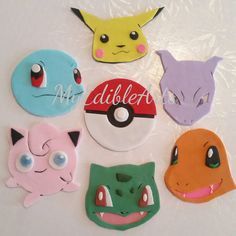 This listing is for one dozen (12) fondant toppers,youll get 6 pokeballs and 6 characters which includes,1 pikachu,1 charmander,1 snorlax,1 bulbasaur,1 squirtle and 1 mewtwo.  You can also choose to have only pokeballs,only assorted characters or one character,mix it up how ever you like as long as its one dozen (12 pcs) and the price is still $28.  Each toppers are approximately 2 5/8 and that will decorate a standard cupcake perfectly.  Also please be aware, after receiving shipment DO NOT…