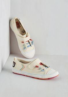 Brighten Your Enlightenment Sneaker | Mod Retro Vintage Flats | ModCloth.com