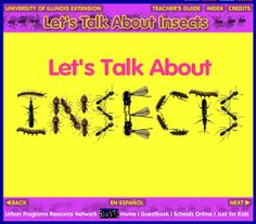 INSECTS~  Great interactive web-based resource to learn interesting facts about insects!
