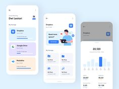Kendi - Management Cloud Storage App by Piko Rizky Dwinanto ✪ for OWW on Dribbble Layout Design, App Ui Design, Design Design, Dashboard Design, Flat Design, Design Color, Graphic Design, Logo Web, Ui Web