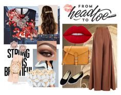 """""""classy lady"""" by hanani-nur on Polyvore featuring Zimmermann, Clover Canyon, Charlotte Russe, Michele, Lime Crime and BeautyTrend"""