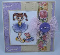 Little Ballerina  Handmade Greeting Card by creationsbywendalyn,