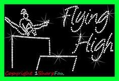 FlyHigh with Gymnastics Rhinestone Iron On Transfer by 1SharpFan on Etsy, $5.75
