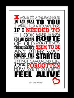 A3 Biffy Clyro Machines  Print Typography song by RTprintdesigns, £11.99