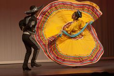 The traditional folk dance costume of Jalisco, the state of Mexico in which Mexico City is located. Every region of Mexico, as well as parts of the United States and Central America, has a distinct costume