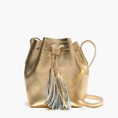 metallic crossbody bag from j.crew