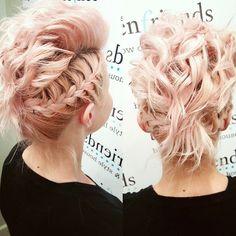 70 Cute Short Hair Updos — Effortless Beauty Check more at http://hairstylezz.com/best-cute-short-hair-updos/