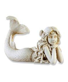 Loving this Stone Mermaid Garden Statue on #zulily! #zulilyfinds