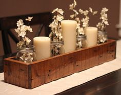 Rustic Table Centerpiece Wooden Box Farm by TheWoodShopDesignCo