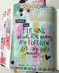 I can love Big because I've been forgiven Big. #valeriedoodlesthebible #illustratedfaith #journalingbible