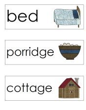 Goldilocks Word Wall Cards (free)
