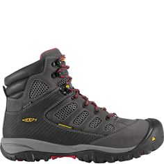 1009180 KEEN Men's Tucson Mid Safety Boots - Magnet/Chili Pepper