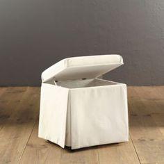 Bench Hamper - Hamper Stool - Bathroom Laundry Hamper - White Hamper Bench     LOVE it in the moroccan stripe!