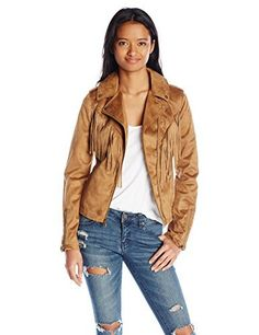 (My review of Celebrity Pink Junior Faux-Suede Jacket with Fringe) -  Trendy and fun, this light weight asymmetrical faux suede junior fringe jacket by Celebrity Pink is the perfect addition to your spring wardrobe.