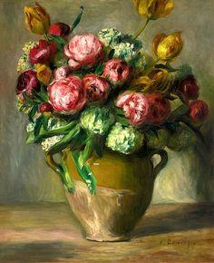 Pierre-Auguste Renoir 1841-1919 Vase De Pivoines