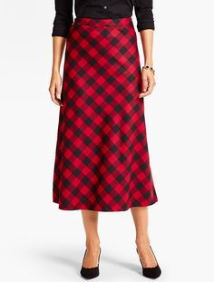 Your favorite riding skirt is back in a classic buffalo plaid print with highland flavor and fashion chic.