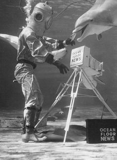Ocean Floor News - Marineland, 1940 - http://carabaas.dreamwidth.org