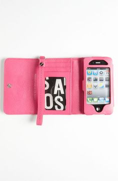 MARC BY MARC JACOBS 'Classic Q' Phone Wallet | Nordstrom    $168.00    toooo much but love the idea+color