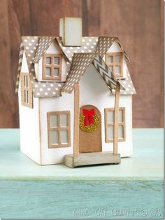My christmas paper house using Sizzix Bigz XL Die - Village Dwelling - 660992 by Tim Holtz