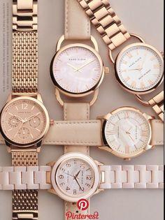 Anne Klein´s watches, love it! - Burcu Biçer - - Anne Klein´s watches, love it! Trendy Watches, Elegant Watches, Beautiful Watches, Cool Watches, Cheap Watches, Wrist Watches, Rose Gold Watches, Stylish Watches For Girls, Rolex Watches