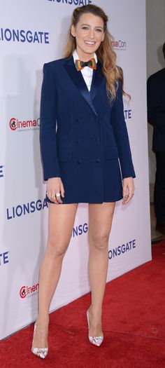 Blake Lively in Sonia Rykiel, Aritzia, and Brackish attends the Lionsgate presentation during CinemaCon 2018 in Las Vegas. #bestdressed