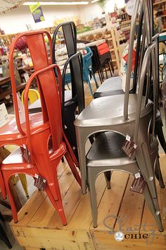World Market Metal Chairs, perfect for the screened in porch around table!