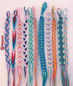 45 Wonderful DIY Bracelet Ideas You Will Totally Love – Armband – - Diy Jewelry İdeas Yarn Bracelets, Summer Bracelets, Bracelet Crafts, Love Bracelets, String Bracelets, Ankle Bracelets, Handmade Bracelets, Diy Embroidery Bracelets, Diy Bracelets With Thread