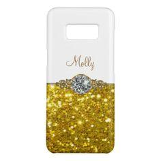 Glitzy Monogram Name Drop Case-Mate Samsung Galaxy S8 Case - monogram gifts unique custom diy personalize