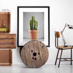 ~ CACTUS ~ ✨  #KasiaLilja #Cactus #Kaktus #cactusMagazine #botanik #bolig #indretning #home #decor #interior #interiør #frame #kabelspole #upcycling