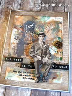 A Masculine card... Tim Holtz goodies are perfect for this occasion...