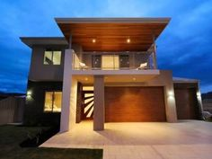 two story house facade timber render - Google Search