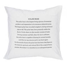 Polar Bear Pillowcase ❤ liked on Polyvore