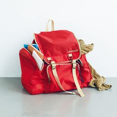 This bright red Lafuma backpack is just the right size for all travel notes and sketches!