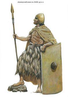 Sumerian close combat warrior