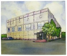 The Office - Pam's drawing of the Dunder Mifflin office building!