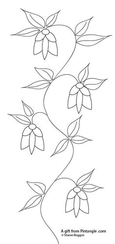Pintangle hand embroidery pattern could be as embellished as you please or as simple as you please