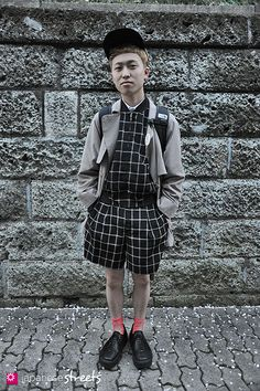 Japanese street fashion in Harajuku, Tokyo (Lim Code,  NISSIN, JULIA KLEIN, Tokyo Bopper, THE NORTH PLACE, HALEY SPORT) via Japanese Streets