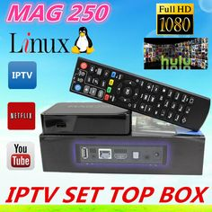 Mag250 #IPTV #TVBox #linux 2.6.23 system iptv set top box Processor STi7105 RAM 256 Mb Mag 250 iptv box  Playback of digital channels in FullHD format  · Support streaming video and video on demand (VoD)  · Support all popular audio and video formats  Optimized video and sound quality (via S/PDIF