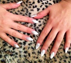 Stiletto Nails - White Oval Nail Art, Oval Nails, Nail Fashion, Stiletto Nails, Nail Trends, White Nails, Wedding Nails, Fun Nails, Claws