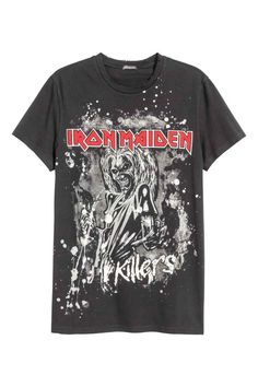 Iron Maiden T-Shirt Killers Logo heavy metal hard rock Official L XL Last NWT Camisa Do Iron Maiden, Iron Maiden Shirt, Vintage Rock Tees, Vintage Shirts, Band Merch, Band Shirts, Camisa Rock, Destroyed T Shirt, Metal T Shirts