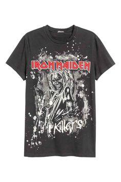 a347aa34969 T-shirt à motif - Noir Iron Maiden - HOMME