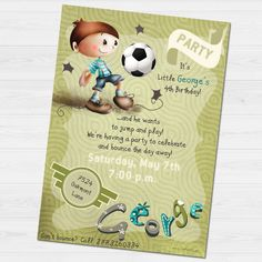 George Party invitation by babyartshop on Etsy Personalized Invitations, Party Invitations, 4th Birthday, Little Boys, Things That Bounce, Clip Art, Messages, Digital, Prints