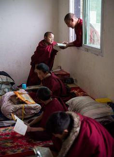 Life of a monk . Qamdo Monastery . Tibet
